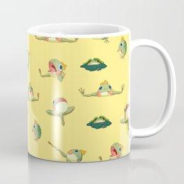 FROOOOOOOOOOOOWG PATTERN far apart yellow Coffee Mug