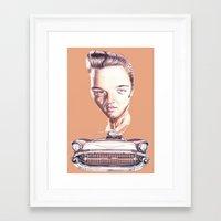 elvis presley Framed Art Prints featuring Elvis Presley by Diego Abelenda
