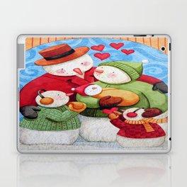 Snowman Family Laptop & iPad Skin