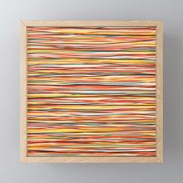 Colored Lines #1 Framed Mini Art Print