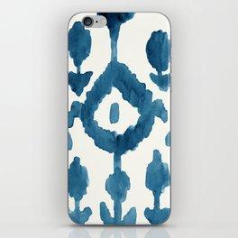 Painterly Flower Ikat Indigo iPhone Skin