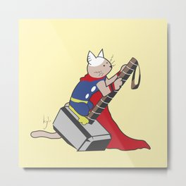 The Catty Thor Metal Print