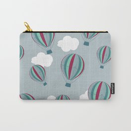 Hot air balloons and clouds - grayish purple Carry-All Pouch
