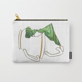 Green Broken Teacup Geode Carry-All Pouch