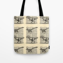 Dictionary Dinosaurs Tote Bag