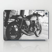 cafe racer iPad Cases featuring Cafe Racer by olegz