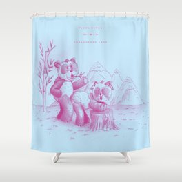 Endangered Love - Panda Sutra Shower Curtain