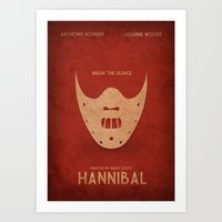 hannibal Art Prints featuring Hannibal by rkbr