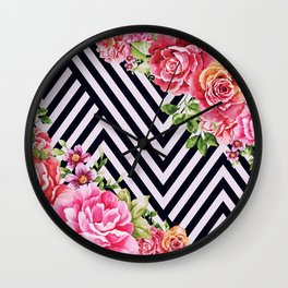 flowers geometric Wall Clock
