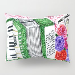 Accordion with roses Pillow Sham