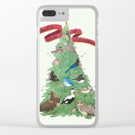 The Twelve Birds of Christmas Clear iPhone Case