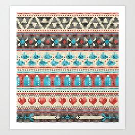 Fair-Hyle Knit Art Print
