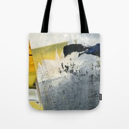 Mellow Yellow Texture Collage Tote Bag
