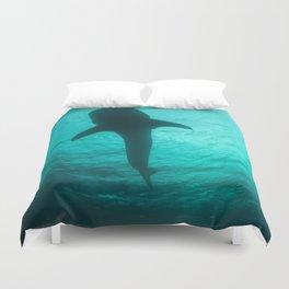 Whale shark silhouette Duvet Cover