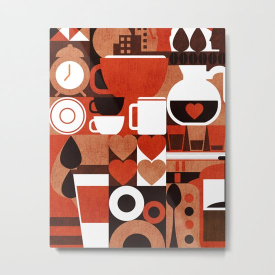 Coffee Story Metal Print