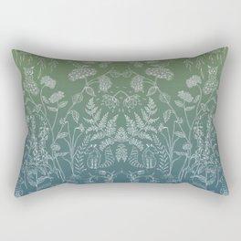 Flores Azules Rectangular Pillow