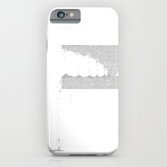 Erosion & Typography 3 iPhone & iPod Case