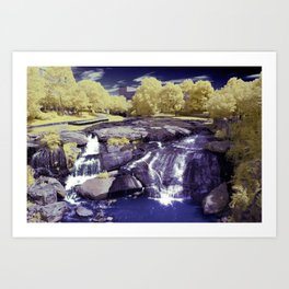 Falls Park on the Reedy in Greenville, South Carolina, A beautiful park space. Art Print