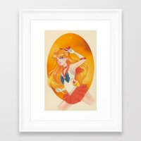 sailor venus Framed Art Prints featuring Sailor Venus by Tae V