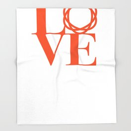 Saatchi Love Throw Blanket