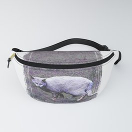 Cautious cat wary of stranger ... me! Fanny Pack