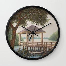 Riverfront Retreat Wall Clock