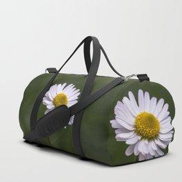 White daisy close up Duffle Bag