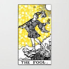 Floral Tarot Print - 0 The Fool Canvas Print