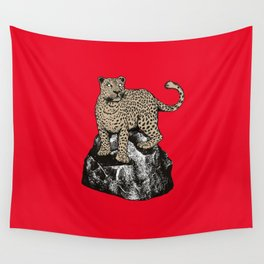 CHEETAH ON THE ROCKS Wall Tapestry