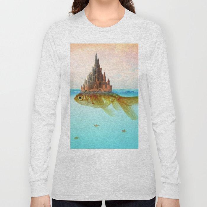 Goldfish Castle Island Long Sleeve T-shirt
