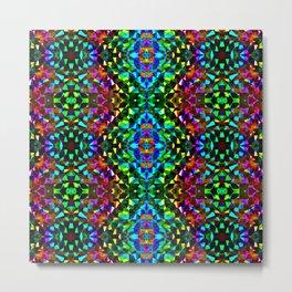 Glittering Kaleidoscope Mosaic Pattern Metal Print