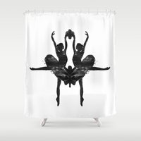 rorschach Shower Curtains featuring Rorschach Ballerina by Rem N