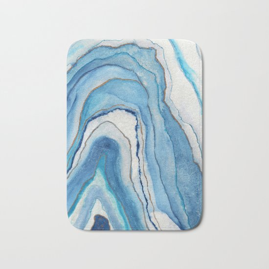 AGATE Inspired Watercolor Abstract 02 Bath Mat