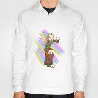 legolas Hoodies featuring Party Legolas and Gimli  by BlacksSideshow