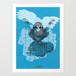 Mori Girl Winter Art Print