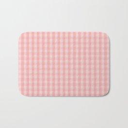 Large Lush Blush Pink Gingham Check Plaid Bath Mat