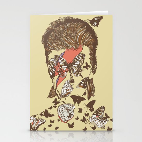 FACES OF GLAM ROCK Stationery Cards
