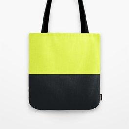 lime yellow and black grey Tote Bag