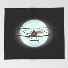 Flying by Night Throw Blanket