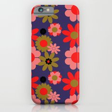 Groovy baby floral iPhone 6s Slim Case