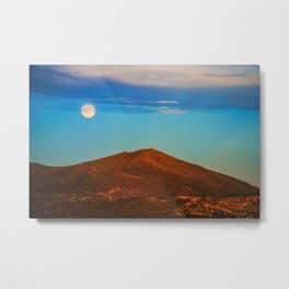 The Moonlit Red Hill Metal Print