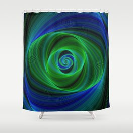 Green blue infinity Shower Curtain