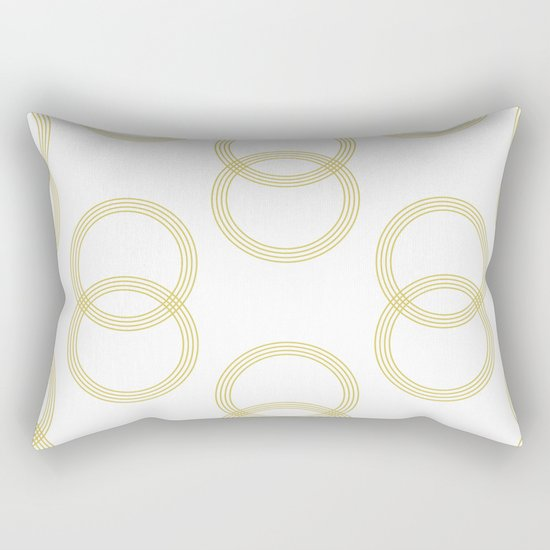 Simply Infinity Link Mod Yellow and White Rectangular Pillow