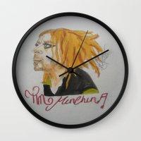 tim shumate Wall Clocks featuring Tim Minchin. by TheArtOfFaithAsylum
