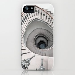 Pretty white spiral staircase iPhone Case