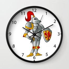 Cartoon knight. Wall Clock