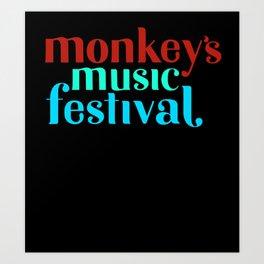 The Monkeys Festival Art Print