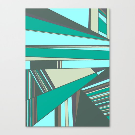 Triangles and Stripes Canvas Print