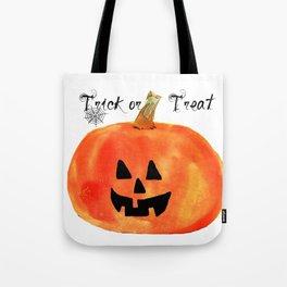 Trick or Treat Jack-O-Lantern, Halloween Pumpkin Tote Bag