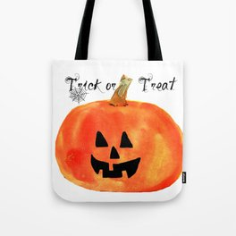 Trick or Treat Jack-O-Lantern, Halloween Pumpkin Tote Bag